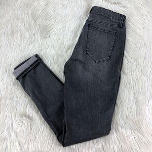 Gap Gray Wash Super High Rise True Skinny Jeans